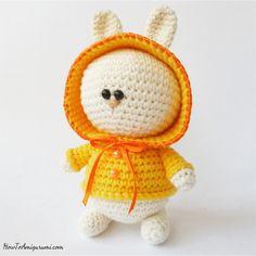 Amigurumi Bunny in Hoodie Yellow