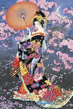 (Japan) Morita Haruyo 森田春代.  Sakura blossom 桜