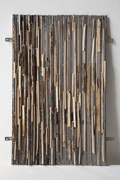 tapestry magic - driftwood finely sliced, gray acrylic, and mirror - by lee borthwick Patterns In Nature, Textures Patterns, Easy Art Projects, Photo Projects, Broken Mirror, Artistic Installation, Art And Craft Design, Encaustic Painting, Beautiful Textures