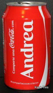 coca cola con nombres andrea