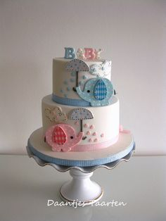 Sweet Elephant Baby Shower Cake. Elephants are very popular with baby showers this year (2014).
