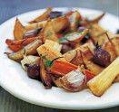 Luscious caramelized veggies:  the perfect autumn food.