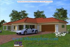 Overall Dimensions- x mBathrooms- 3 Car GarageArea- Square meters Single Storey House Plans, Building Costs, Bedroom House Plans, Square Meter, Home Collections, All Design, Bedrooms, Bedroom