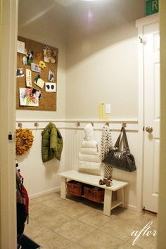 YES! This is the type of mudroom I want - we'd have to arrange things a bit different, but this is the idea :)