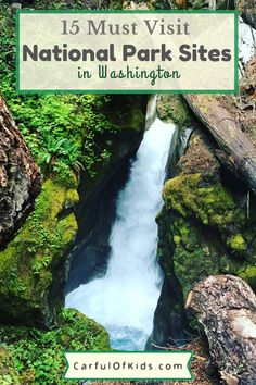 Washington offers 15 National Park Service Sites to explore on your next getaway. Find temperate rainforests, evergreen forests along with historical sites and volcanic sites. Many of the NPS sites are close to Seattle too. #NPS #NationalParks #WashingtonState What are the National Park sites in Washington | National Parks close to Seattle National Park Lodges, North Cascades National Park, Grand Teton National Park, Yellowstone National Park, National Parks, Washington Nationals Park, Washington State Parks, Weekend Getaways With Kids, Perfect Road Trip