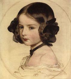 armchairhistorian: Princess Clotilde von Saxen Coburg, Franz Xaver Winterhalter, c. 1855