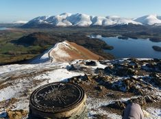 View across Catbells over Derwent Water and onto Skiddaw Cumbria, Lake District, Countryside, United Kingdom, Landscapes, Hiking, England, Adventure, Mountains