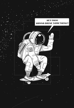 """""""Skate outer space"""" #Skateboard #Space #Astronaut #Skateouterspace #illustration #skater #spaceship #astro"""