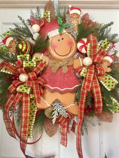 Hey, I found this really awesome Etsy listing at https://www.etsy.com/listing/487562877/christmas-gingerbread-mesh-wreath
