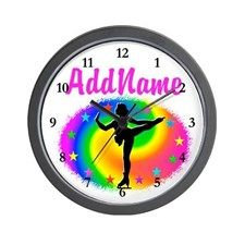 LOVE SKATING Wall Clock Keep motivated looking every day at our Figure Skating clocks.  http://www.cafepress.com/sportsstar/10189550 #Figureskater #IceQueen #Iceskate #Skatinggifts #Iloveskating #Borntoskate #Figureskatinggifts #PersonalizedSkater #Skaterclock