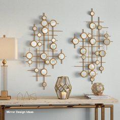 diy home decor - Round Mirrored Wall Décor Home Decor Store, Diy Home Decor, Room Decor, Metal Walls, Metal Wall Art, Diy Wood Stain, Wall Decor Design, Deco Boheme, Diy Mirror
