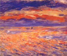 Sunset at sea - Pierre-Auguste Renoir