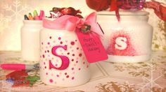 DIY Christmas Candy Jar with Sharpie. Great Hostess Gift!