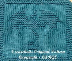 Knitting pattern for Flying Dragon Cloth or Afghan block - Dragon motif Finished Size: X Knitted Dishcloth Patterns Free, Knitting Squares, Animal Knitting Patterns, Knitted Washcloths, Crochet Dishcloths, Loom Knitting, Baby Knitting, Beginner Knitting, Dragon Pattern