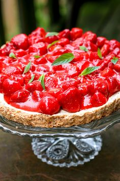Hazelnut Strawberry Tart