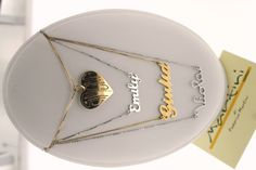 series of necklaces in gold can be personalized with your name, made entirely by hand serie di girocolli in oro giallo o bianco, personalizzabili con il vostro nome, realizzati a mano