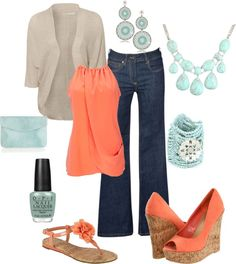 Love the Turquoise and coral