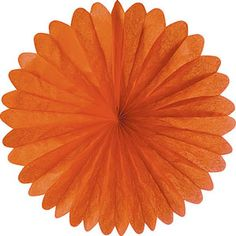 Orange 19 Inch Rice Paper Daisy for a classic Black-and-Orange Halloween party color scheme. $2.65 for this folding honeycomb rice paper decoration, 19 inches across when fully open.