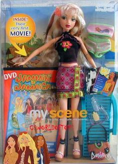 AmazonSmile: Barbie My Scene Jammin in Jamaica Doll & DVD Movie Delancey: Toys & Games