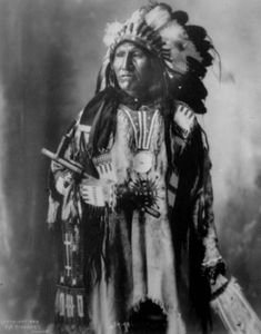 Strike With Nose, a Native American (Sioux) man - Frank A Rinehart - 1899