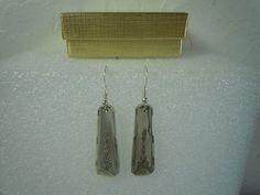 Oneida Milady 1940 Earrings Silverplate  #Oneida #DropDangle