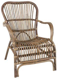 Skøn lænestol i kurveflet naturlig rattan fra Ib Laursen. Rattan Furniture, Outdoor Furniture, Outdoor Chairs, Outdoor Decor, Metal Chairs, Black Canvas, Outdoor Entertaining, Wicker Baskets, Garden Inspiration