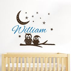 Owl Wall Decal Name Vinyl Sticker Personalized by TrendyWallDecals
