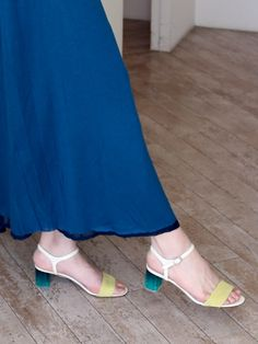 Plastic heeled sandal! Green heels!!! #japanesefashion