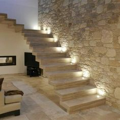 Basement House, House Stairs, Stairs Architecture, Interior Architecture, Brazil Houses, Stone Houses, Stairways, Home Deco, Future House