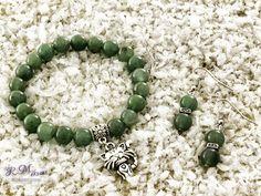 Zöld aventurin karkötő és fülbevaló R.M.ékszer szett Jewelry, Bracelets, Photos, Accessories, Jewlery, Pictures, Jewerly, Schmuck, Jewels