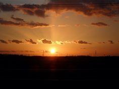 Coucher du soleil en Beauce