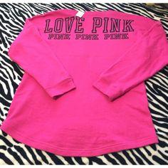 VS PINK Varsity crew neck! NWT! VS PINK varsity crew neck! (Fits as a small or medium) PINK Victoria's Secret Sweaters Crew & Scoop Necks