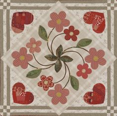 Hearts and Flowers Downloadable Quilt Project image