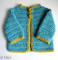 sweet crochet bebe cardi
