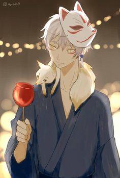 刀剣乱舞『夏祭り』鳴狐 Japanese Fox Mask, Cool Anime Guys, Anime Love, Nine Tailed Fox, Kitsune Mask, Bleach Anime, Touken Ranbu, Shingeki No Kyojin, Masks