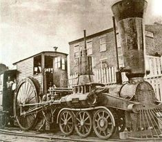 "Camden And Amboy R.R.. ""Crampton"" type 6-2-0   built in U.S, in 1849 from an original design in 1843 by English Engineer Thomas Russell Crampton in England."