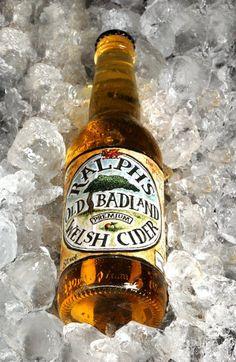 Ralph's Old Badland Premium Welsh Cider. Radnorshire UK. All of the juice is pressed through a cloth or hair, with either one of their many Victorian oak beam screw presses, or vintage hydraulic presses. Rely on natural yeasts and tannins to ferment. They grow their own fruit too!