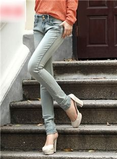 New Arrival Fashion Slim Fancy Korean Style Jeans : tidestore.com