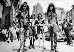 KISS Walking on the Street of New York City, June 24th, 1976.
