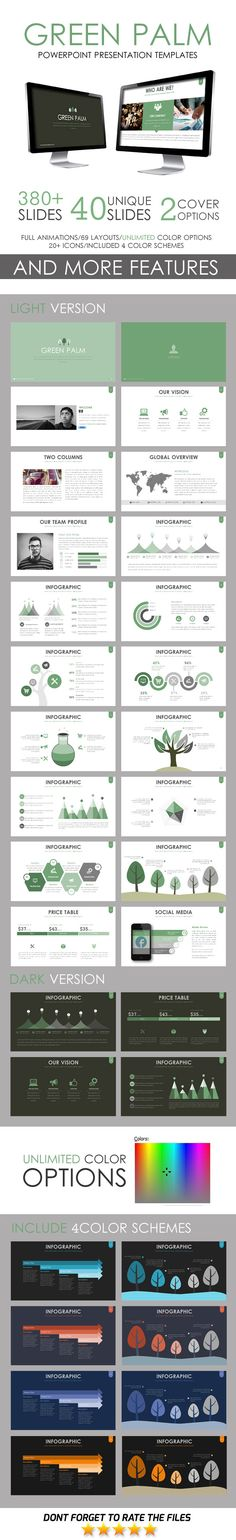 Green Palm PowerPoint Template. Download: http://graphicriver.net/item/green-palm-powerpoint-template/11246503?ref=ksioks