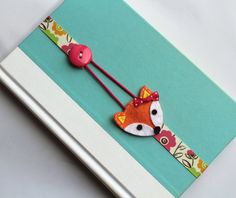 Elastic Ribbon Bookmark, Erin Condren Planner, Girls Bookmark, Fox Bookmark, Place Holder, Filofax, Bible, Book, Planner, ebmfox16
