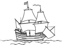 Coloring book - Mayflower sails - Plimoth Plantation- Thanksgiving Unit Study
