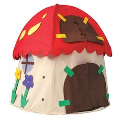 "Bazoongi Kids Mushroom Play Tent -- we're going to use this as the basis for a ""Dinosaur Den"" for the party, and then use it for a fun playhouse later."