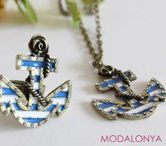 Denizci Çapa Kolye Modalonya.com'da  #deniz #kaptan #bayankolye