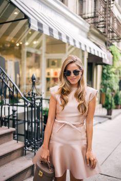 Gal Meets Glam The Bow Detail -Paule Ka dress, Mark Cross bag & Ray Ban sunglasses