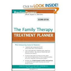 The Family Therapy Treatment Planner (PracticePlanners). Awesome book, I have cracked this bad boy open for guidance to writing treatment plans.