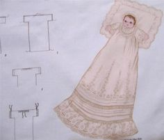 """Doll in Christening Gown & Bonnet - Fabric Panel - Doll 12"""" Tall, Doll In Gown 24"""" $12.50 #Cranston #FabricPanel"""