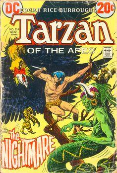 old comic books | Tarzan #214 and comic book cover marketing | Comic Book Brain