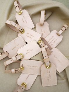 "hand stitched luggage tags | love the ""not worth taking"""