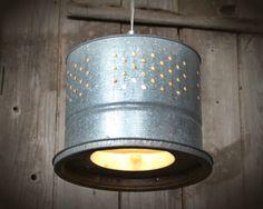 repurpose minnow bucket | Unique original minnow buckets repurposed into hanging light fixtures ...